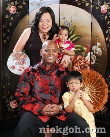 Mixed Family Studio Portrait - Nick Goh